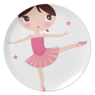 Amazing hand painted Pink balerina Plate