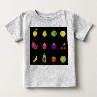 Amazing handdrawn Fruit on black Baby T-Shirt