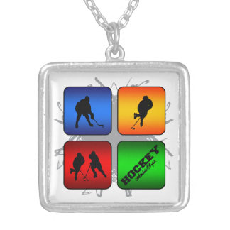 Amazing Hockey Urban Style Silver Plated Necklace