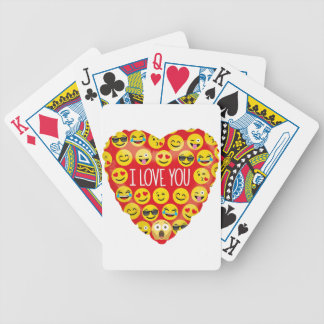 Amazing I love you Emoji Gift Bicycle Playing Cards