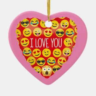 Amazing I love you Emoji Gift Ceramic Ornament