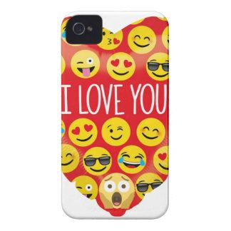 Amazing I love you Emoji Gift iPhone 4 Case