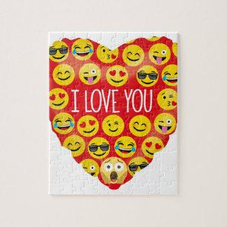 Amazing I love you Emoji Gift Jigsaw Puzzle