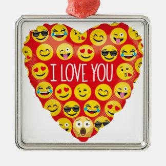 Amazing I love you Emoji Gift Metal Ornament