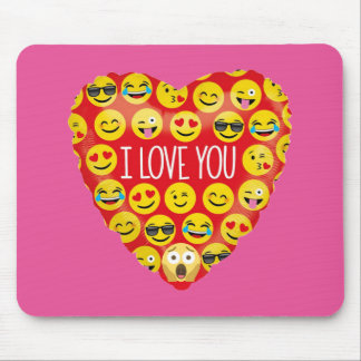 Amazing I love you Emoji Gift Mouse Pad