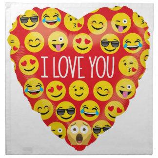Amazing I love you Emoji Gift Napkin