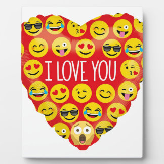 Amazing I love you Emoji Gift Plaque