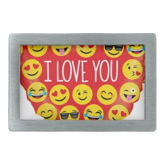 Amazing I love you Emoji Gift Rectangular Belt Buckles