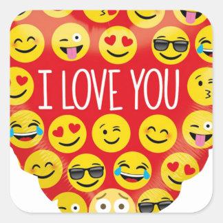 Amazing I love you Emoji Gift Square Sticker
