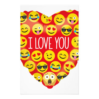 Amazing I love you Emoji Gift Stationery