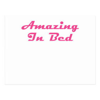 Amazing In Bed Postcard