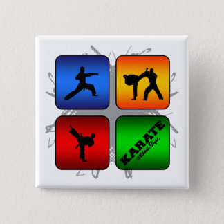 Amazing Karate Urban Style 2 Inch Square Button