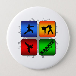 Amazing Karate Urban Style 4 Inch Round Button