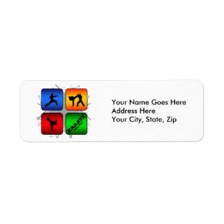 Amazing Karate Urban Style Return Address Label
