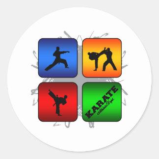 Amazing Karate Urban Style Round Sticker