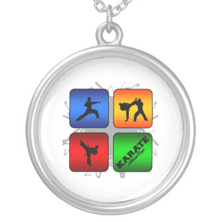 Amazing Karate Urban Style Silver Plated Necklace