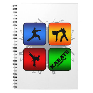 Amazing Karate Urban Style Spiral Notebook