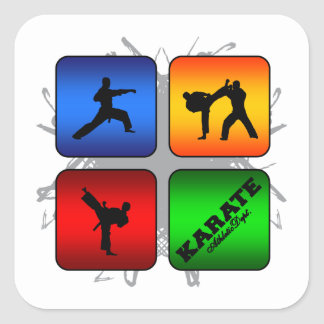 Amazing Karate Urban Style Square Sticker