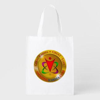 Amazing Karma Logo Reusable Grocery Bag
