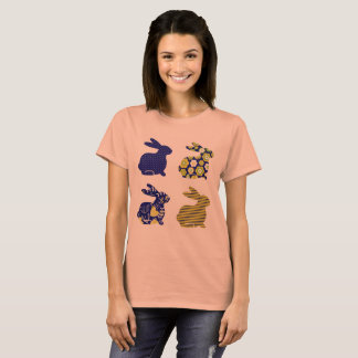 Amazing ladies t-shirt with Blue bunnies