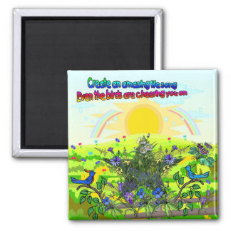 Amazing Life Song Square Magnet