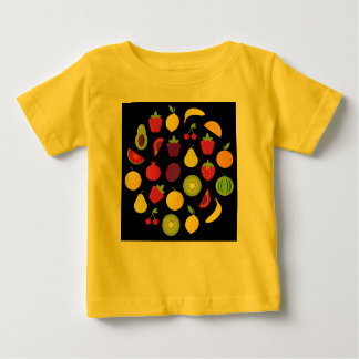Amazing Little Kids T-Shirt YELLOW WITH FRUIT
