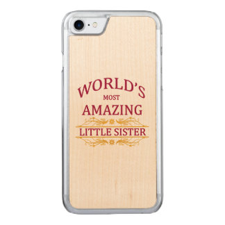 Amazing Little Sister Carved iPhone 7 Case