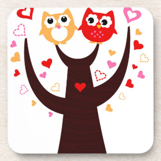 Amazing Love birds colorful on Tree Coaster