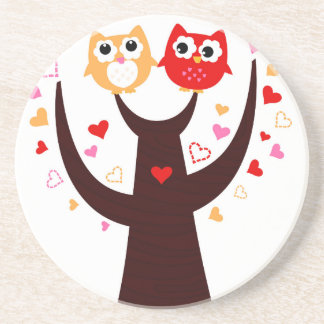 Amazing Love birds colorful on Tree Drink Coaster