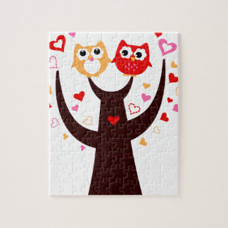 Amazing Love birds colorful on Tree Jigsaw Puzzle