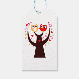 Amazing Love birds colorful on Tree Pack Of Gift Tags