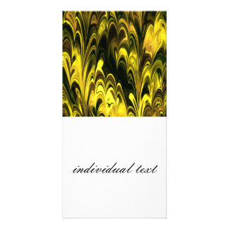 Amazing Marbled Fractal (L) Photo Card Template