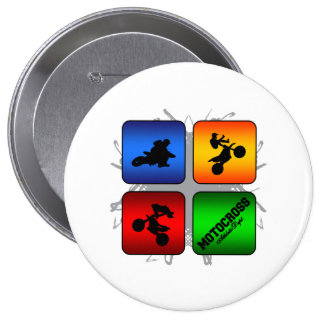 Amazing Motocross Urban Style 4 Inch Round Button