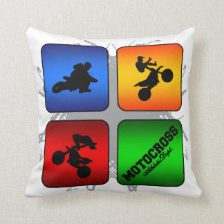 Amazing Motocross Urban Style Throw Pillow