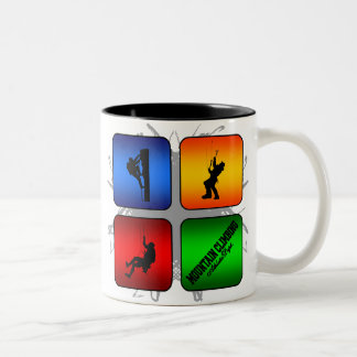 Amazing Mountain Climbing Urban Style Two-Tone Coffee Mug