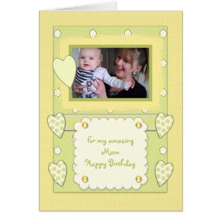 Amazing Mum Photo Birthday Card