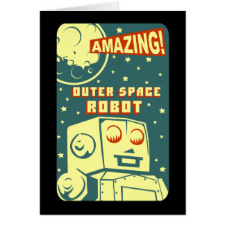 Amazing Outer Space Robot Card