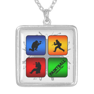 Amazing Paintball Urban Style Silver Plated Necklace