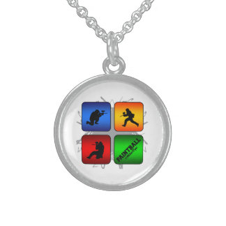 Amazing Paintball Urban Style Sterling Silver Necklace