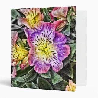 amazing painted flowers binder