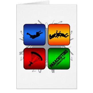 Amazing Parachuting Urban Style Card