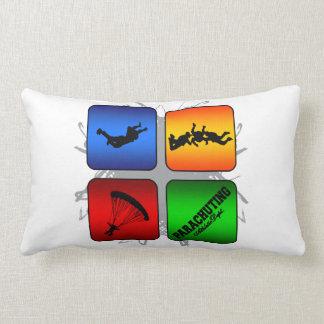 Amazing Parachuting Urban Style Lumbar Pillow