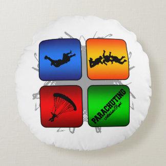 Amazing Parachuting Urban Style Round Pillow