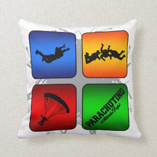 Amazing Parachuting Urban Style Throw Pillow