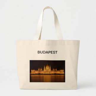 Amazing Parliament in Budapest Large Tote Bag
