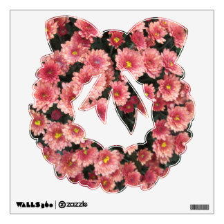 Amazing Pink Chrysanthemum Cluster Wall Sticker
