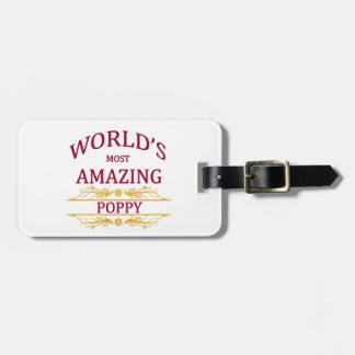 Amazing Poppy Bag Tag