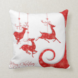 Amazing Red Christmas Design Throw Pillow