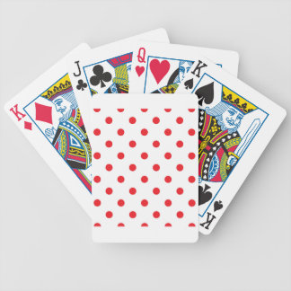 Amazing red dots on white bicycle playing cards