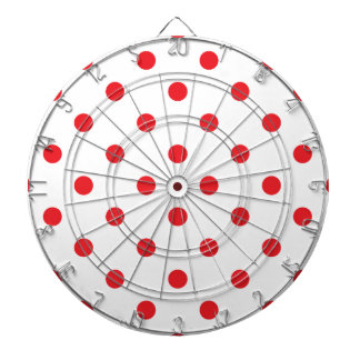 Amazing red dots on white dartboard